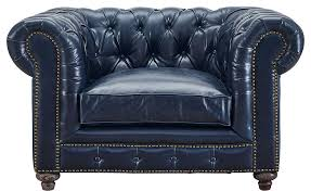 blue leather chair. New Blue Chesterfield Available At AdvancedInteriorDesigns.com Brown Leather Club Chair