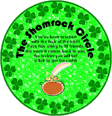 Small Picture The Shamrock Circle Chain Letter Glitter Graphic Greeting