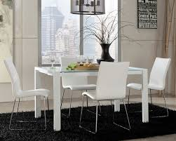 dining room elegant modern white chairs set with pertaining to ideas 15