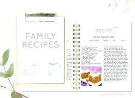 Homemade Cookbook Template Kids Cookbook Template