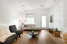 if you can bare it these white exposed brick walls are beautiful without any adornment at all