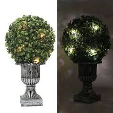 Outdoor Artificial Topiary Boxwood Ball Tree In Different Size Artificial Topiary Trees With Solar Lights