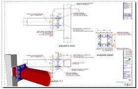 Shs Beam Column Endplate Moment Connection Detail