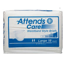Attends Care Waistband Style Briefs With Odor Shield For Adult Incontinence Care Large Unisex 18 Briefs