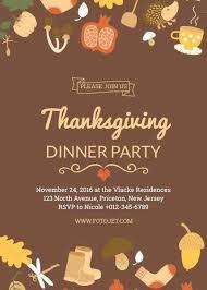 Thanksgiving Dinner Invitation Template Thanksgiving Dinner Party