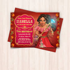 printable elena of avalor birthday invitations with free thank you cards