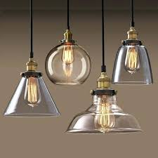 vintage pendant lights bowl hanging lamp iron glass shade for kitchen light fixture uk