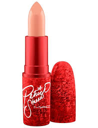 makeup patrick starrr x mac cosmetics lipstick in peachy peter