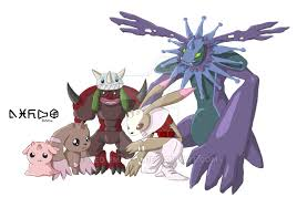 Lopmon Evolution Line 1 By Meowmatsu On Deviantart Digimon