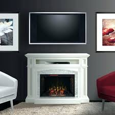 electric fireplace entertainment center white