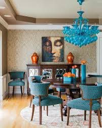 blue dining room furniture. Color Statement. Dramatic Dining Room In Shades Of Blue Furniture