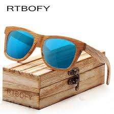 <b>RTBOFY</b> Unisex Polarized Bamboo Wood Sunglasses <b>Vintage</b> ...