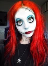rushed makeup idea as sally for a fancy dress party where the black sch marks are im gonna use scar wax