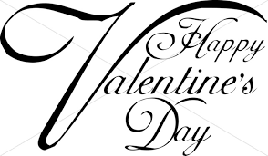 happy valentine s day clip art black and white. Happy Day Script Typography With Valentine Clip Art Black And White