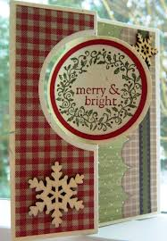 Scrapbooking Christmas Cards Designs Su Thinlits Circle Card Using Dcwv Homemade Christmas Stack