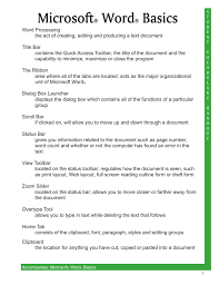 Microsoft Word Vocabulary Microsoft Word Vocabulary Handout 07