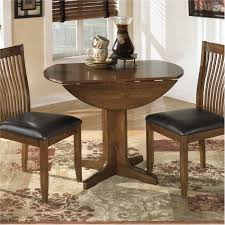 great small round drop leaf dining table with wooden base painted with beautiful perspective round dining