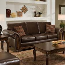 Simmons Santa Monica Vintage Leather Sofa With Accent Pillows within  measurements 1600 X 1600