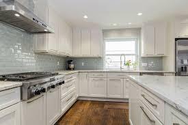 Modern White Granite Kitchen Backsplash Ideas For White Oak Kitchen