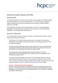 Infrastructure Support Engineer Job Profile