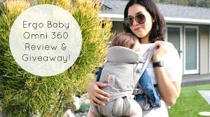 The BEST Baby Carrier: Ergobaby Omni 360 Review & Giveaway! - YouTube