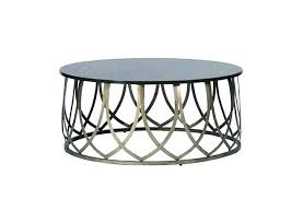 round coffee table metal