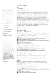 Elementary Teacher Resume Sample Lovely Teacher Resume Samples