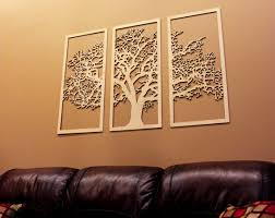 on large 3 panel wall art with tree of life 3 panel tree wood wall art wall hanging