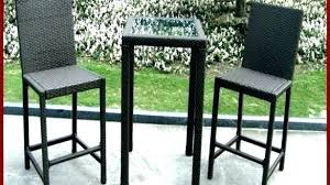 outdoor bistro set bar ht creative of high tall table and chairs in clearance aluminum black