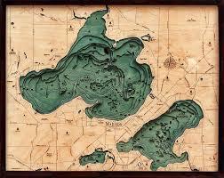 Wood Bathymetric Charts Bathymetric Map Lake Mendota And Lake Menona Wisconsin