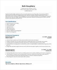 Resume Template For Receptionist 9 Best Templates Samples Images On