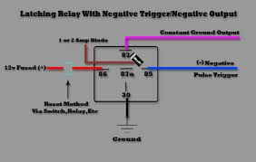 latching 12v latching relay automotive at 12 Volt Latching Relay Diagram