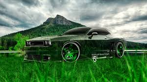 dodge challenger muscle crystal nature car