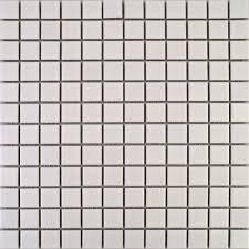 zoro mosaic tiles zoro square matt white 25x25