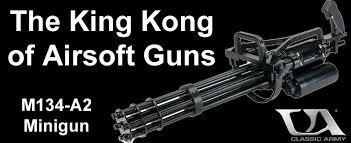chainsaw minigun. airsoft m134-a2 vulcan minigun field test chainsaw