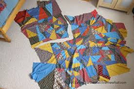 A Crazy-Making Crazy Quilt -- Finished at Last・Barbara Falconer ... & A crazy quilt top cut into pieces to make into smaller quilts. Primary  colored vintage Adamdwight.com