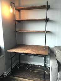 shelves for desk wall units shelving unit with desk desk with shelves on side pipe shelves for desk