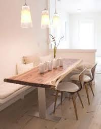 dining room table with bench against wall. interesting idea to place table against the wall (instead of centered in room). corner bench kitchen tablecorner dining room with