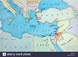 Map Of The Mediterranean Stock Photos Map Of The Mediterranean