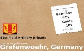 41st Field Artillery Brigade Germany Pcs Guide 101