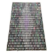 area rug made from s material reclaimed from flip flop factories details flip flop s