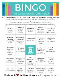 american template the great american read bingo cards this template is now available