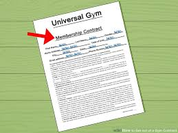 Doctors Note For Gym How To Get Out Of A Gym Contract 11 Steps With Pictures