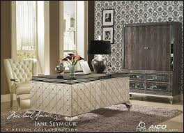 old hollywood style furniture. Hollywood Glam Furniture Amini Swank Cavier Desk With Metal Cabriole Legs Old Style Monochrome L