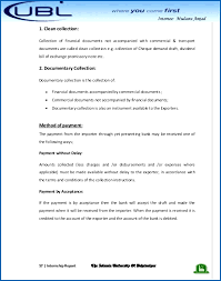 U B L Bank Internship Report Authority Letter For Collection Of ...