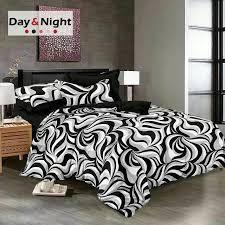 black white zebra print bed sheet set sahiba collection