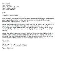 What Is In A Letter Of Recommendation Cover Letter With Recommendation