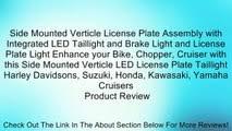Custom Motorcycle Cateye Rear <b>Tail Light</b> with <b>Integrated Brake</b> ...