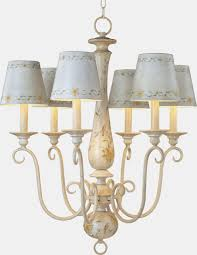 antique french country mini chandelier with ceramic lamp shades and