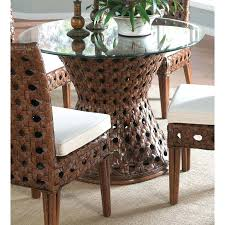 48 round glass table top astonishing dining rattan base 6 on inch tempered patio